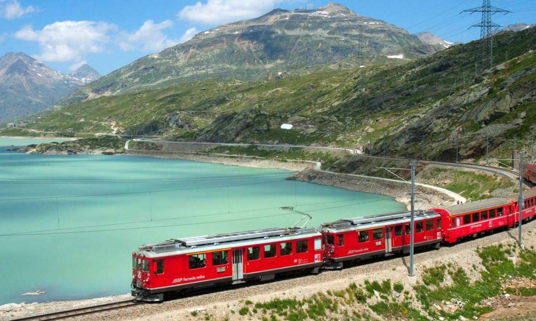 Tren Bernina Express: Excursión a los Alpes suizos