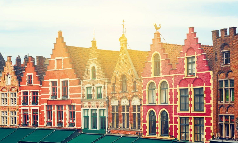 Medieval city Brugge, Belgium. Beautiful Grote Markt.jpg