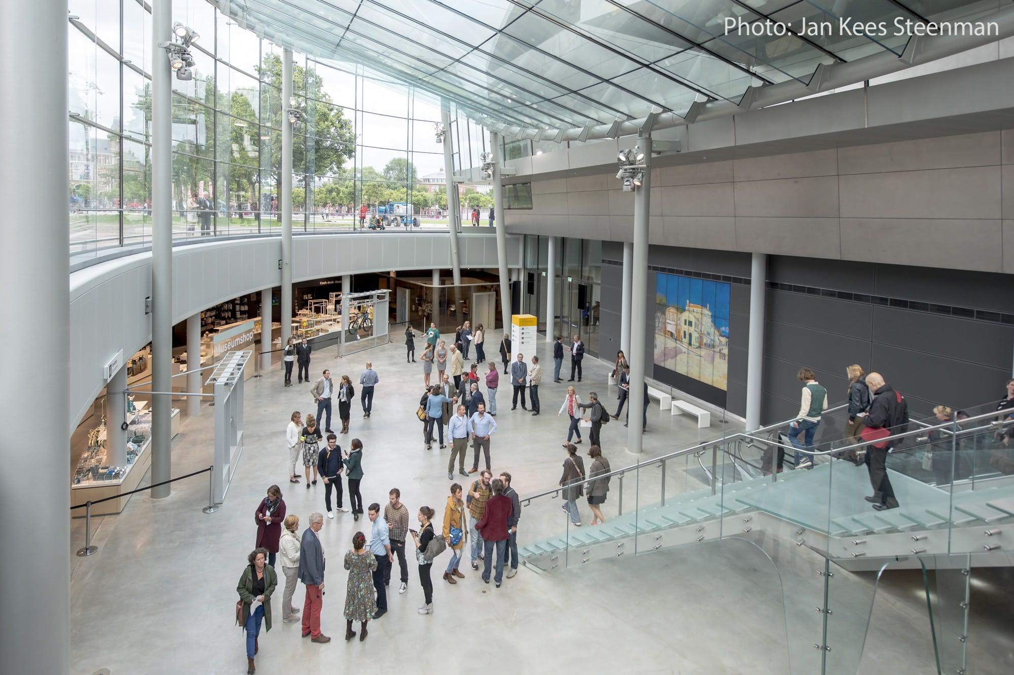 Van Gogh with photo credits museum entrance form inside