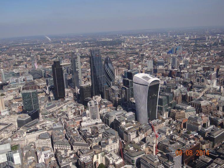 El centro de Londres desde el vuelo en helicóptero de Battersea Sightseeing