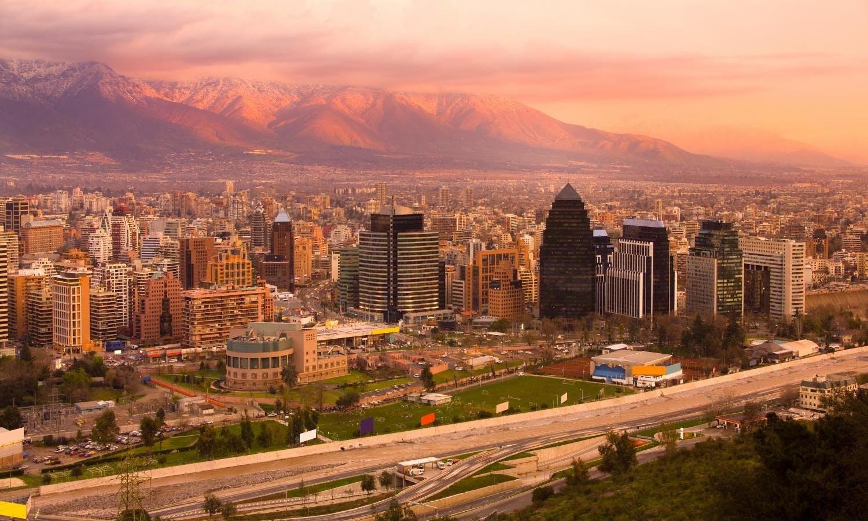Tour por la ciudad Santiago de noche con cena