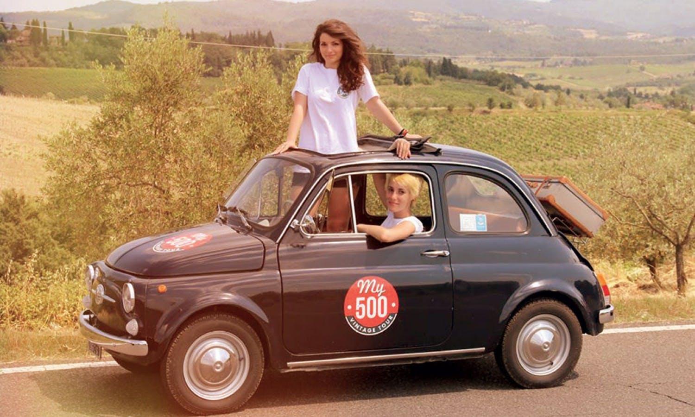 Fiat 500 Vintage Tour y carreteras Chianti de San Gimignano-1
