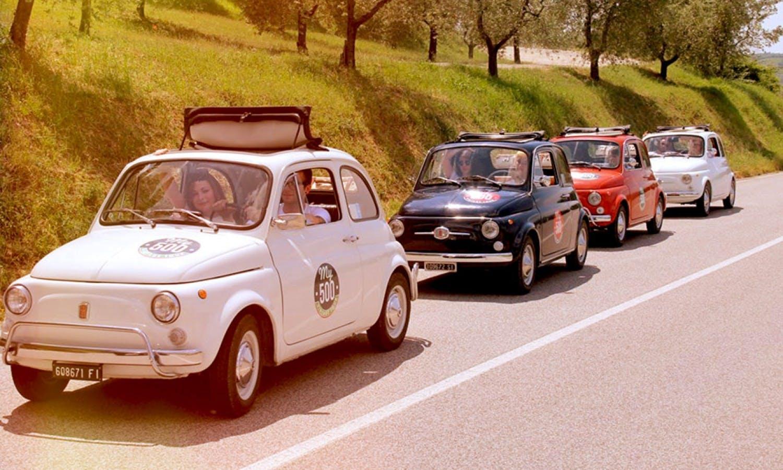 Fiat 500 Vintage Tour y carreteras Chianti de San Gimignano-2