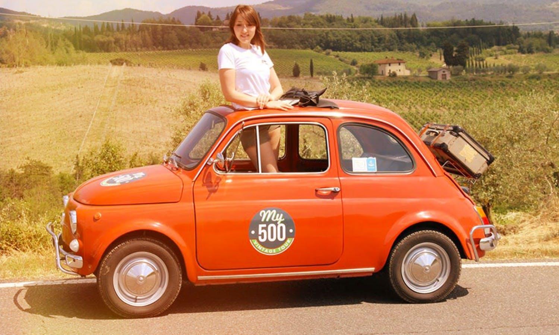 Fiat 500 Vintage Tour y carreteras Chianti de San Gimignano-3